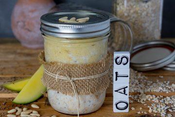 Overnight-Oats mit Mango und Banane