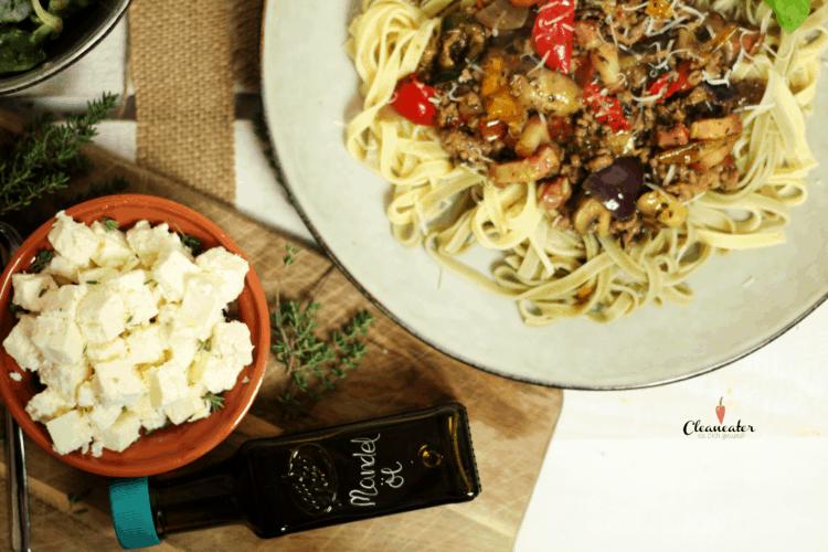 Spagetti Bolognese mit Steinpilzöl