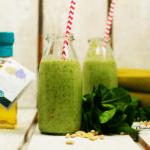 Grüner Smoothie mit Leinöl