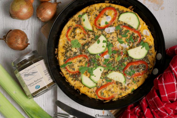 Mediterran Omelett mit Virginia Barbecue Gewürzmischung