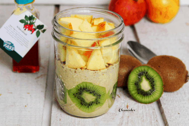 Overnight Oats mit Wildrosenöl