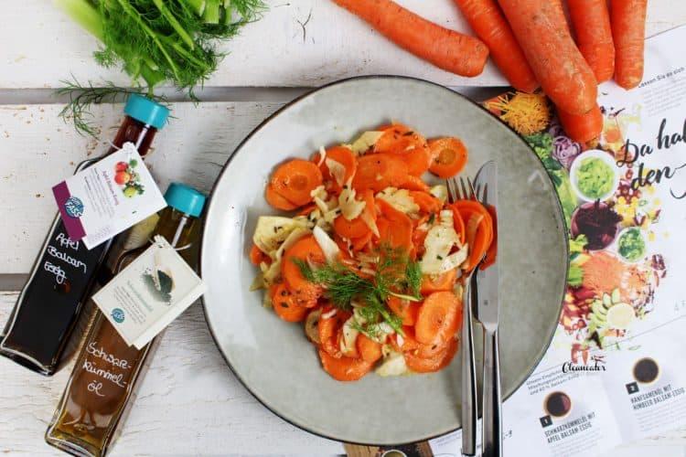Möhren-Fenchel Salat mit einem Wellnessdressing