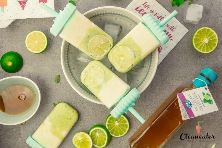 Frozen Limetten-Joghurteis mit Limetten Balsam