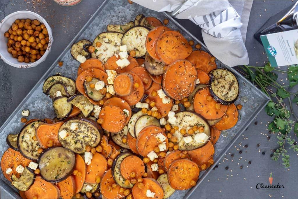 Geröstete Auberginen mit Ingwer-Sesamöl