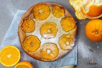 Fluffiger Orangenkuchen mit Orangenoel