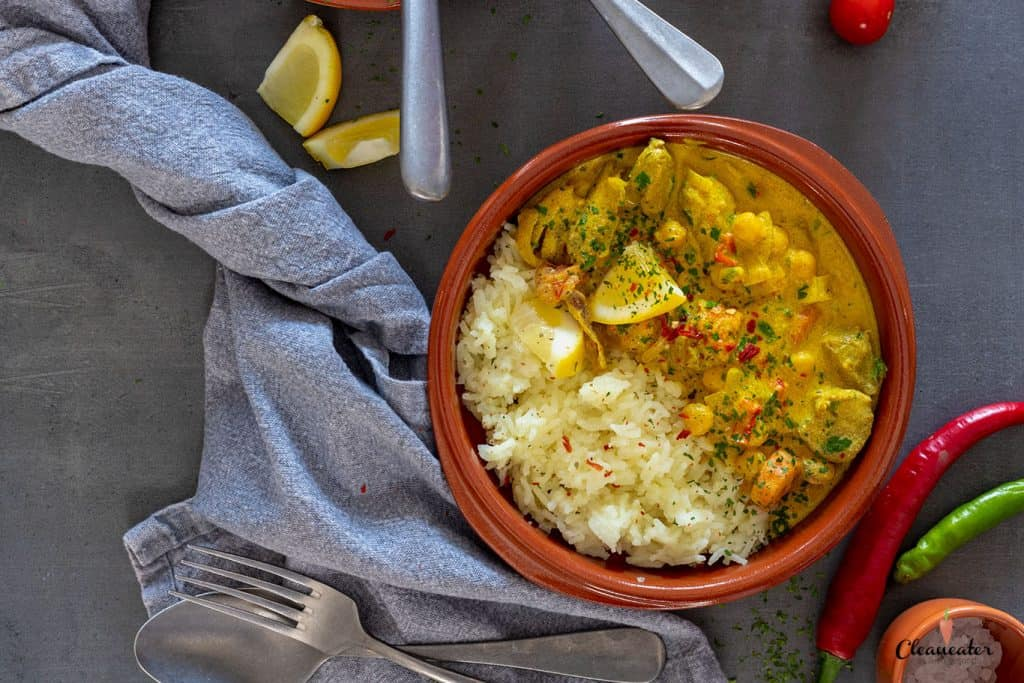 Lamm-Curry mit Limonenöl