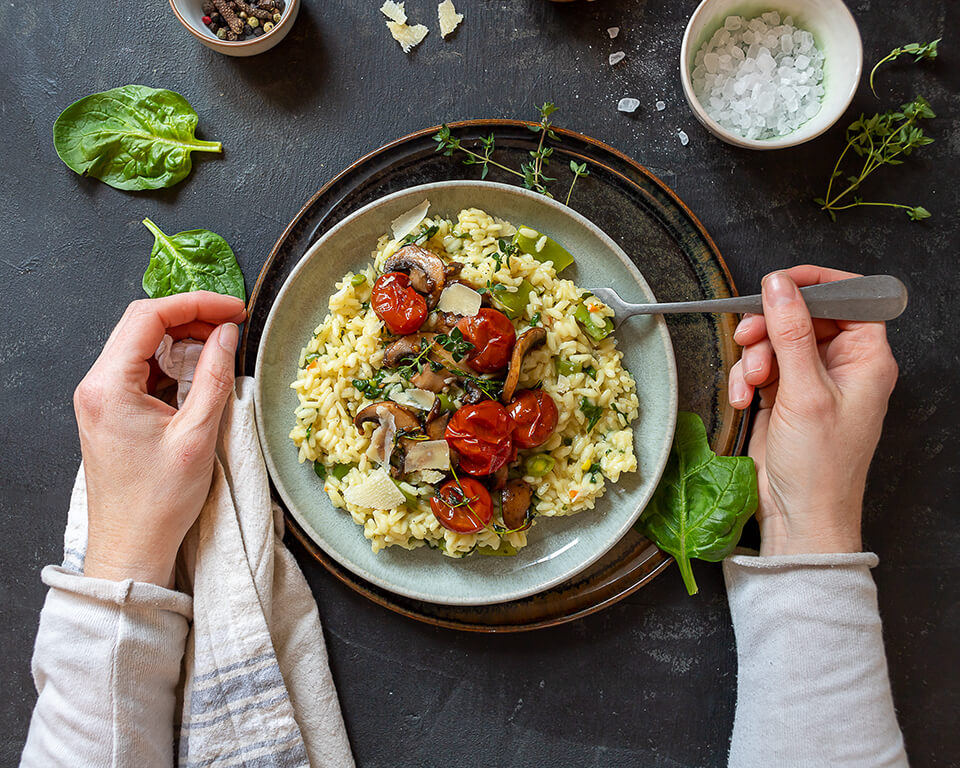 Cremiges Spinat-Risotto