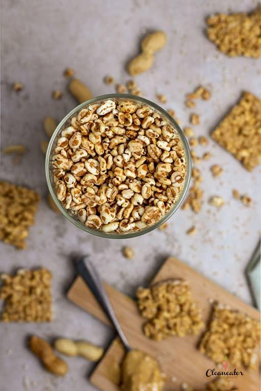 Gesunder Snack - Erdnuss-Crisp-Happen