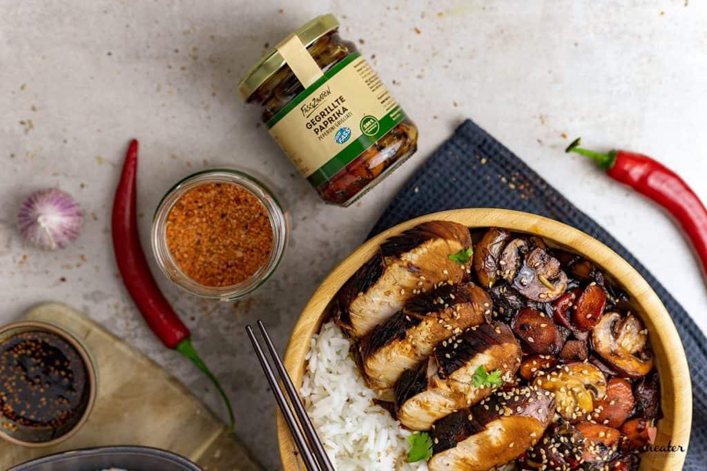 Chicken Teriyaki mit Maracua Balsam-Essig