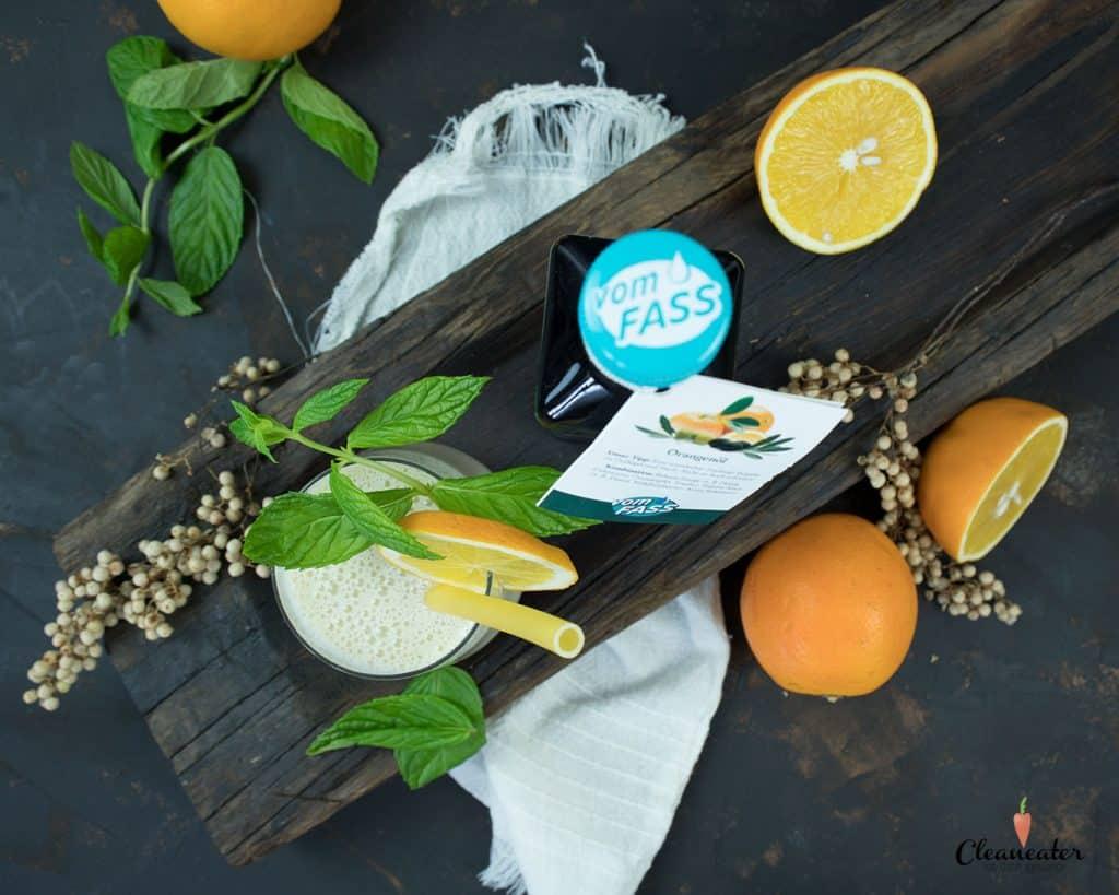 Kleiner Vitaminbooster: Orangen-Bananen-Smoothie