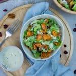 Süßkartoffel-Salat mit Honig-Joghurt Dressing