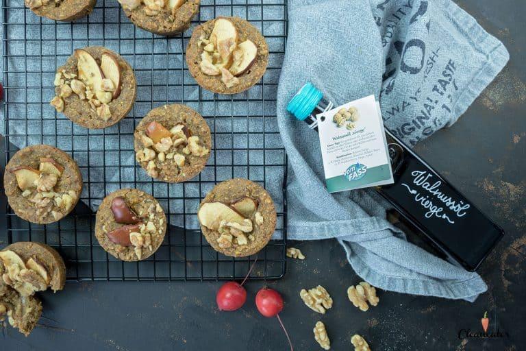 Gesunde Apfel-Walnuss Muffins