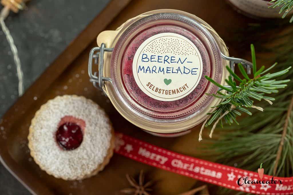 Beeren-Marmelade mit Waldhimbeer Balsam-Star