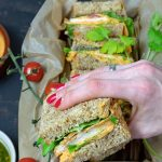 Hähnchen-Sandwich mit Süßkartoffel-Aufstrich